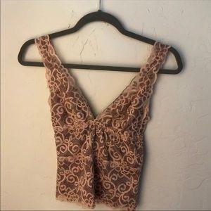 f21 blush lace cami bralette